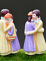 Moss micro - landscape Decoration doll ornaments embrace lovers Valentine 's Day hot DIY materials