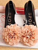 Women's Sandals Summer Comfort Synthetic Casual Flat Heel Flower Black / Pink / Almond Walking
