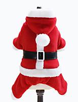 Cani Costumi / Felpe con cappuccio Rosso Abbigliamento per cani Inverno Tinta unita Natale Lovoyager
