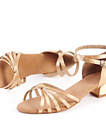 Customizable Women's Dance Shoes Satin Satin Latin / Jazz / Modern / Swing Shoes / Salsa Sandals Low Heel Beginner / Indoor / Performance