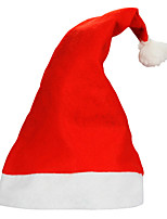 10pcs/lot Adult Ordinary Christmas Hats Santa Hats Children Cap for Christmas Party Props