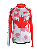 Sports Cycling Jersey Women's Long Sleeve Breathable /Warm /Back Pocket / Ultra Light Fabric Bike Jersey