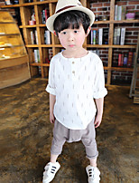 Boy's Casual/Daily Solid Clothing SetCotton Fall Yellow / Gray