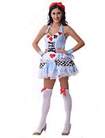 Costumes de Cosplay Fête d'Octobre/Bière Cosplay de Film Bleu Couleur Pleine Robe Halloween / Carnaval / Fête d'Octobre Féminin Polyester
