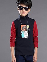 Boy's Casual/Daily Print Tee,Cotton Winter / Spring / Fall Black / Red