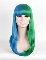 barato boa qualidade bule verde mista cor peruca cosplay perucas sintéticas