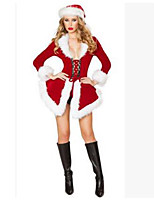 Christmas Costume/Holiday Halloween Costumes Red Solid Skirt / Hats Christmas Female