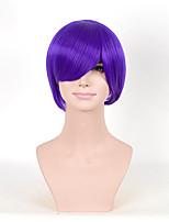 женщины горячие продажи мило прическа синтетические парики короткие прямые фиолетовые парики