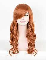 Brown Synthetic Wigs for Black Women Heat Resistant African American Cosplay Wigs