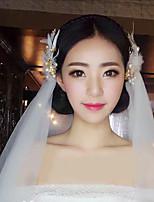 Bride's Gloden Feather Wedding Hair Accessories Headbands Hair Clip Barrette 1 PC