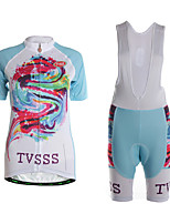 Sports Cycling Jersey with Shorts Women's Short Sleeve Quick Dry / Wearable / High Breathability / 3D Pad /