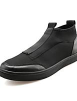 Черный Красный Белый-Мужской-Повседневный Для занятий спортом-Ткань-На плоской подошве-Удобная обувь-Кеды