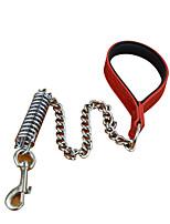 Dog Leash Padded / Training Solid Red / Black / White / Gold Nylon / PU Leather