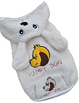 Dog Costume Hoodie Dog Clothes Winter Spring/Fall Animal Cute Cosplay White