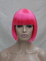 Quality Synthetic Hair Dark Pink Anime Cosplay Costume Short BOB Wig