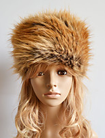 Women Faux Fur Warm Ski Hat Cute / Casual Winter Brown / Red / Khaki / Gray
