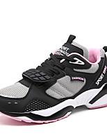 Homme-Extérieure / Décontracté / Sport-Noir / Blanc / Gris-Talon Plat-Bottes à la Mode-Chaussures d'Athlétisme-Tulle