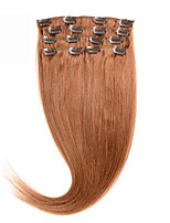 Clip In Human Hair Extentions Silky Straight #30 100% Human Hair 16-24 inches Brazilian Clip In Hair Preferential Price.
