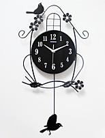 Модерн Домики Настенные часы,Прочее Акрил / Металл / Дерево 36*68cm В помещении Часы