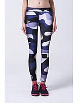 Pantalon de yoga Bas Respirable / Doux / Confortable Taille moyenne Extensible Vêtements de sport Bleu / Fuchsia Femme Sportif Yoga