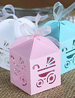 50 Piece/Set Favor Holder-Creative Card Paper Favor Boxes With Ribbon Non-personalised DIY Baby Shower Favors