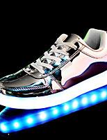 Серебристый / Золотистый-Женский-На каждый день-Полиуретан-На плоской подошве-Удобная обувь-На плокой подошве