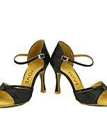 Sapatos de Dança(Preto / Azul / Vermelho / Prateado / Dourado) -Feminino-Personalizável-Latina / Salsa
