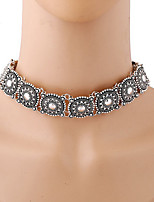 Women's Fashion Punk Exaggerated Bohemian Vintage Metal Choker Necklace