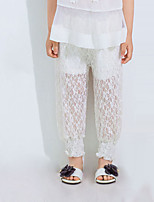 Girl Casual/Daily Solid Pants-Cotton Blend Summer