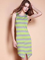 XuanFeiLu Women's Strap Sleeveless Knee-length Dress-H-809