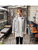 9021 fall and winter clothes new suede lamb's wool coat lapel College Wind Short padded winter coat female Korean