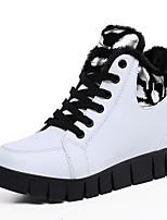 נשים-נעלי ספורט-פליז-פלטפורמה-שחור / אדום / לבן-שמלה / קז'ואל-פלטפורמה