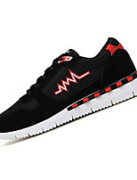 Men's Sneakers Spring / Fall Comfort PU Casual Flat Heel Lace-up Black / Blue / Red Sneaker
