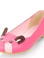 Розовый / Красный / Серый / Бежевый-Женский-Для офиса / Для праздника / На каждый день-Дерматин-На плоской подошве-Удобная обувь / Балетки