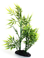 Artificial Green Bamboo Leaf Plant Aquarium Fish Tank Decoration Ornament