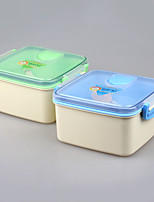 Double-desk Reusable Lunch Container Set Bento Boxes