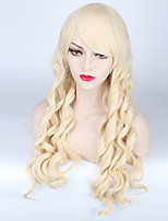 Body Wave Fashoin Mulit Color Beige Brown Color Sexy Natural Wearing Synthetic Wigs Party Wig for Women