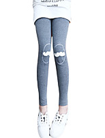 Girl's Casual/Daily Solid Pants,Cotton Spring / Fall Black / Pink / Gray