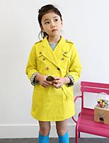 Mädchen Anzug & Blazer-Lässig/Alltäglich einfarbig Baumwolle Winter / Herbst Gelb
