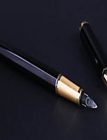 Stylo Stylo Stylos-plumes Stylo,Métal Baril Noir Couleurs d'encre For Fournitures scolaires Fournitures de bureau Pack