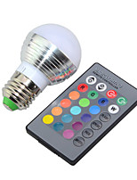 3W E27 E14 RGB LED Bulb LED Lamp Light Led Spotlight 16 Color Change Dimmable Lampada 24Keys(85-265V)