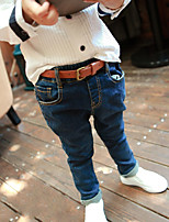 Boy's Casual/Daily Solid PantsCotton Spring / Fall Black / Blue