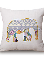 Polyester Decorative Cushion Pillow Cover Animal Elephant Sofa Home Decor 45x45cm