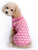 Dog Sweater Pink Dog Clothes Winter / Spring/Fall Polka Dots Cute / Casual/Daily
