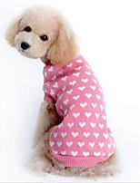Hunde Pullover Rosa Hundekleidung Winter / Frühling/Herbst Gepunktet Niedlich / Lässig/Alltäglich /