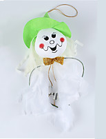 Halloween Small Ornament White Ghost Ghost Witch Scarecrow Fengling Decoration(Random Color)