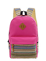 Casual Backpack Women Canvas Purple Blue Black Fuchsia Khaki