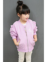 Girl Casual/Daily Solid Jacket & Coat,Cotton Fall Long Sleeve