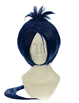 HITMAN REBORN! Sixteen Years Later Of Rokudou Mukuro Ink Blue Mixed Blue Halloween Wigs Synthetic Wigs Costume Wigs