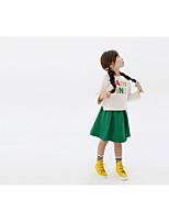 Mädchen Kleidungs Set-Lässig/Alltäglich einfarbig Baumwolle Frühling / Herbst Weiß